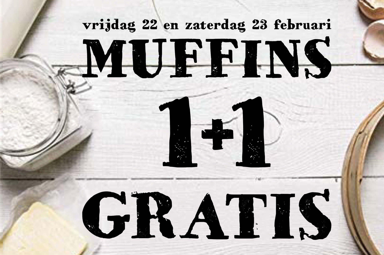 chocolade muffins 1 + 1 GRATIS